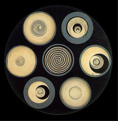 Marcel Duchamp, Disks Bearing Spirals (1923). Ink and pencil on paper, 08,2 x 108,2 cm. Seattle Art Museum.