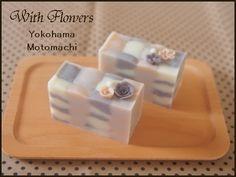 ブラウンでまとめたブロック模様 |横浜・元町中華街駅 手作り石けん教室 With Flowers