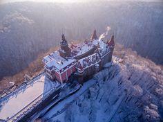 "Maybe this phrase ""#winter wonderland"" was invented to describe #KsiążCastle. fot. Bogumił Dąbek, eralybird.pl"