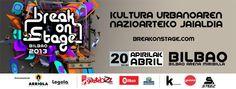Tras lograr un lleno absoluto el pasado año, con la prensencia de 4000 personas, BreakOnStage vuelve con los shows más sorprendentes de cultura urbana a nivel internacional. Será el día 20 de Abril a partir de las 20:00.  ---------------------------->  BreakOnstage 2013 Bilbao Arena Kirol Gunean ospatuko da Apirilaren 20an. Iazko arrakastaren ondoren, 4000 ikusle bertaratu ziren, aurten ere BreakOnStage kultura urbanoaren nazioarte mailako ikuskizunik harrigarrienekin itzuliko da.
