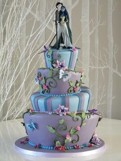 """""""The Corpse Bride""""-Themed Wedding Cake by Rachelle's Cakes"""