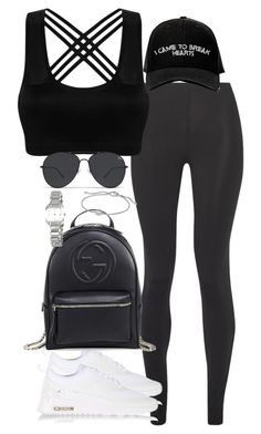 """""""Untitled #2308"""" by theeuropeancloset on Polyvore featuring Live The Process, NIKE, Gucci, Manolo Blahnik, David Yurman and Tissot"""