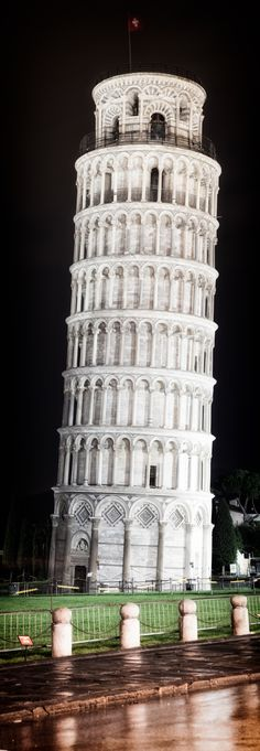 The Leaning Tower of Pisa, Tuscany, Italy.                        My father, as a child would reminisce with us how he learned to ride his bike around the Leaning Tower.