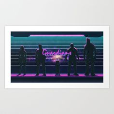 What a Bunch of Guardians Art Print by Andy Wynn - $18.00