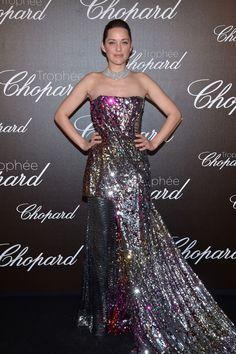 Marion Cotillard -Chopard Trophy Event - HarpersBAZAAR.com
