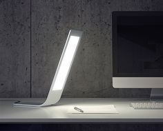 A modern, ultra-thin OLED light that is perfect for home or office. #lighting #OLED #YankoDesign