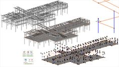 Example of a structural analytical model created using Autodesk's Revit… Revit Family, Kenya, Garden Tools, Construction, Design, Google, Templates, Building Information Modeling, Urban