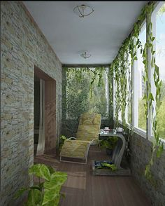 Design small balcony - transform the balcony in an additional comfortable room If you live in a big city, then you might have rented an apartment in the best . House Balcony Design, Small Balcony Design, Small Balcony Decor, Porch And Balcony, Balcony Decoration, Balcony Ideas, Zen Design, Home Design, Interior Design