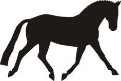 dressage horse silhouette | Dressage Pony / Horse Silhouette Decal 6 x 4