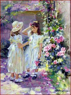 ZZ-Александр Averin-- 1952 - Молодые девушки-и-roses.jpg