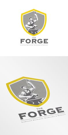 The Forge Traditional Blacksmith Logo Template on Behance
