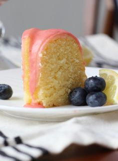 American Heritage Cooking | Lemon Pound Cake with Fresh Strawberry Icing | http://americanheritagecooking.com