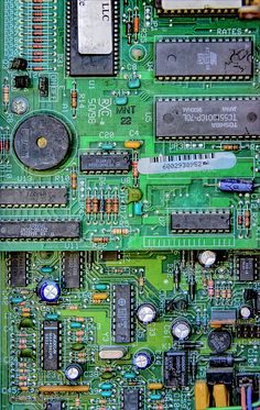Vintage Circuit Board By LeeAnn McLaneGoetz McLaneGoetzStudioLLC.com Before printed circuits the circuit board had hundereds of components working together to ensure the customer did not drop the payphone call. Attica Michigan #circuit Board
