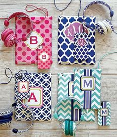 Cute cases & coordinating accessories #monogrammed