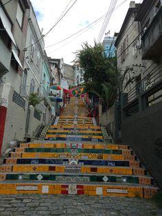 Escalera en Selarón en el barrio de Lapa, Río de Janeiro.