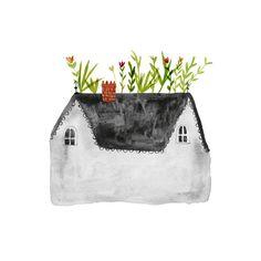 Roof Garden art print  A4 por inmybackyard en Etsy