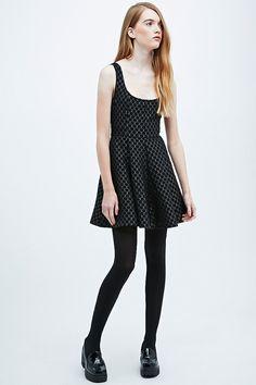 Pins & Needles Jacquard Spot Dress in Black