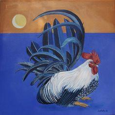 """Japanese Bantam"" oil on canvas"
