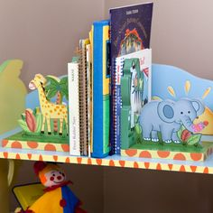 These bookends give your kids room a fun feel.