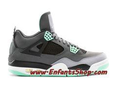 newest d9dd4 ce5f9 Air Jordan 4 Retro Chaussures Jordan Basket Pas Cher Pour Homme Green Glow  308497-033
