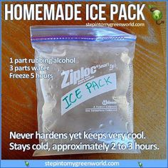 ☛ THE BEST AND LEAST EXPENSIVE ICE PACK. ✒ Share | Like | Re-pin | Comment