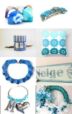 Ocean blue and turquoise ^_^ by Tatiana Bazzi on Etsy--Pinned with TreasuryPin.com