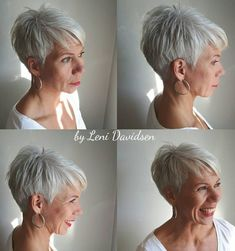 Tapered Silver Pixie For Women Over 60