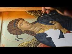 St Michael icon by Rade Pavlovic Painting Process, Painting Videos, Painting Techniques, Byzantine Icons, Byzantine Art, Religious Images, Religious Art, Church Icon, Paint Icon