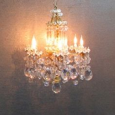 Dollhouse miniature chandelier