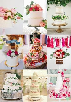 #Wedding #Cakes with Fresh #Flowers Mood Board from The Wedding Community