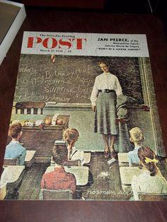 Saturday Evening Post Jigsaw Puzzle 500 Piece Happy Birthday Miss Jones  #ParkerBrothers