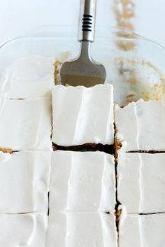 Gluten-Free Apple Cinnamon Bars with Skinny Maple Cream Cheese Frosting #recipe #healthy