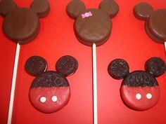Mickey Mouse Pops - make for our trip to Disney World