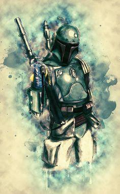 Star Wars Fan Art, Star Wars Film, Star Wars Rebels, Star Trek, Boba Fett Art, Star Wars Boba Fett, Jango Fett, Stormtrooper, Darth Vader