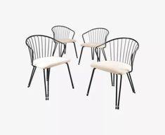 Lot de chaises, années 1950 - métal - noir - vintage - ipPoDBN Outdoor Chairs, Dining Chairs, Outdoor Furniture, Outdoor Decor, Home Decor, Vintage, Elegant Dining, Exterior Decoration, Home Decoration