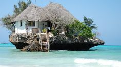 From spectacular ocean views to astounding meals, these are the world's best restaurants in which to kiss.: African Views: The Rock Restaurant, Zanzibar, Tanzania The Places Youll Go, Places To See, Unique Restaurants, Krabi, The Rock, Vacation Spots, Places To Travel, The Good Place, Beautiful Places