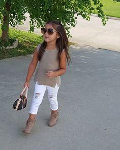 903cf2f04012 New Baby Girls Clothing Set Lace Top White T-Shirt Denim Jeans 3 Pcs ...