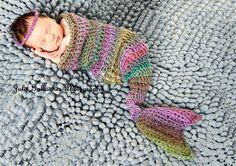 crochet mermaid cocoon