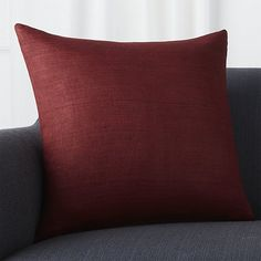 Textural, hand-spun silk in beet red creates a touchable, down-to-earth pillow with high-impact style. Our decorative pillows include your choice of a plush feather-down or lofty down-alternative insert at no extra cost.