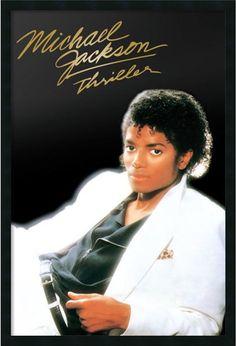 """0-028766>37x25"""" Michael Jackson Thriller Framed Art Gel Coated"""