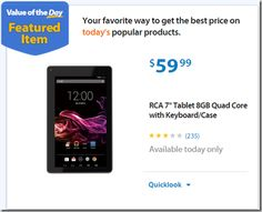 """Walmart Value of the Day: RCA 7"""" Tablet 8GB Quad Core with Keyboard/Case Just $59.99!"""