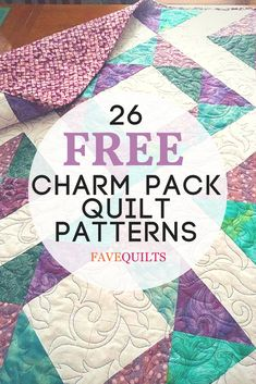 Discover over 20 free quilting patterns for charm packs! Includes baby quilts, table runners, bed quilt patterns, and more!
