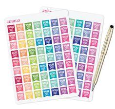 Planner Stickers Workout Flags by PlannerStickerJubilo on Etsy