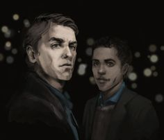 DCI Thomas Nightingale and PC Peter Grant, from Ben Aaronovitch's excellent Rivers of London series.    By http://agarthanguide.tumblr.com/