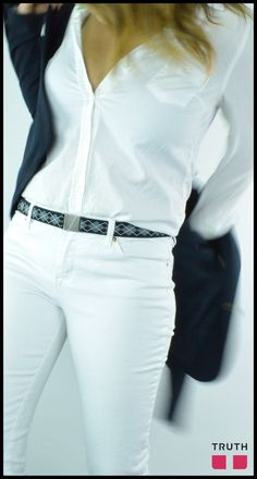 The karma flat belt comes in the fun black argyle pattern to jazz up any outfit. #veganfashion $28.00 www.truthbelts.com
