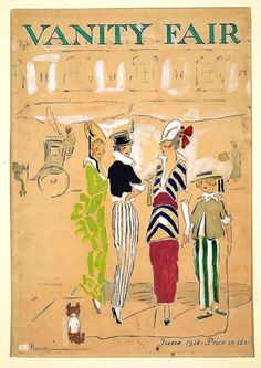 ๑ Nineteen Fourteen ๑  historical happenings, fashion, art & style from a century ago - Vanity Fair Magazine Cover, 1914