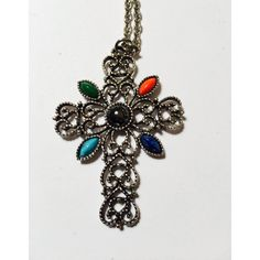 Vintage Avon Florentine Finish Cross Pendant Necklace ($19) ❤ liked on Polyvore featuring jewelry, necklaces, cross necklace, avon, avon jewelry, crucifix necklace and cross jewelry