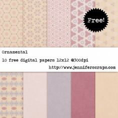 Ornamental - free digital scrapbook paper