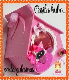 Nanny Evarts: Casa corujinha porta guloseimas