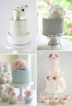 Roses & Lace Wedding Cakes http://www.rosesandlace.co.uk/roses-lace-wedding-cakes/